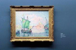 Paul Signac - Ancoraggio alla Giudecca (Venezia , la nuvola rosa), 1909